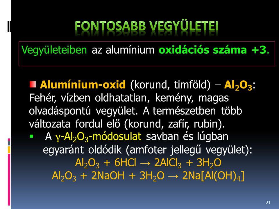 Al2O3 + 2NaOH + 3H2O → 2Na[Al(OH)4]